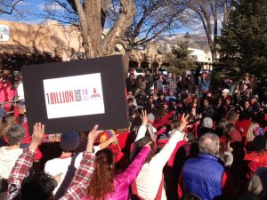 Dora McQuaid at One Billion Rising Taos