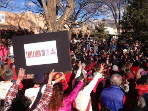 Dora McQuaid at One Billion Rising Taos