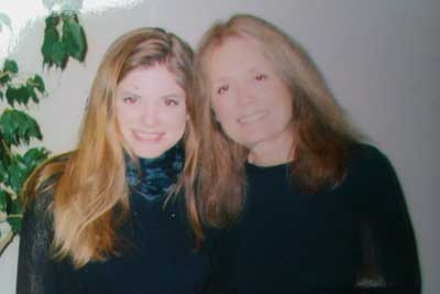Dora McQuaid with Gloria Steinem