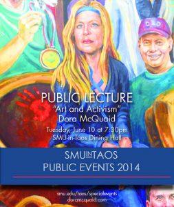 Dora E. McQuaid, Intersection of Arts and Activism